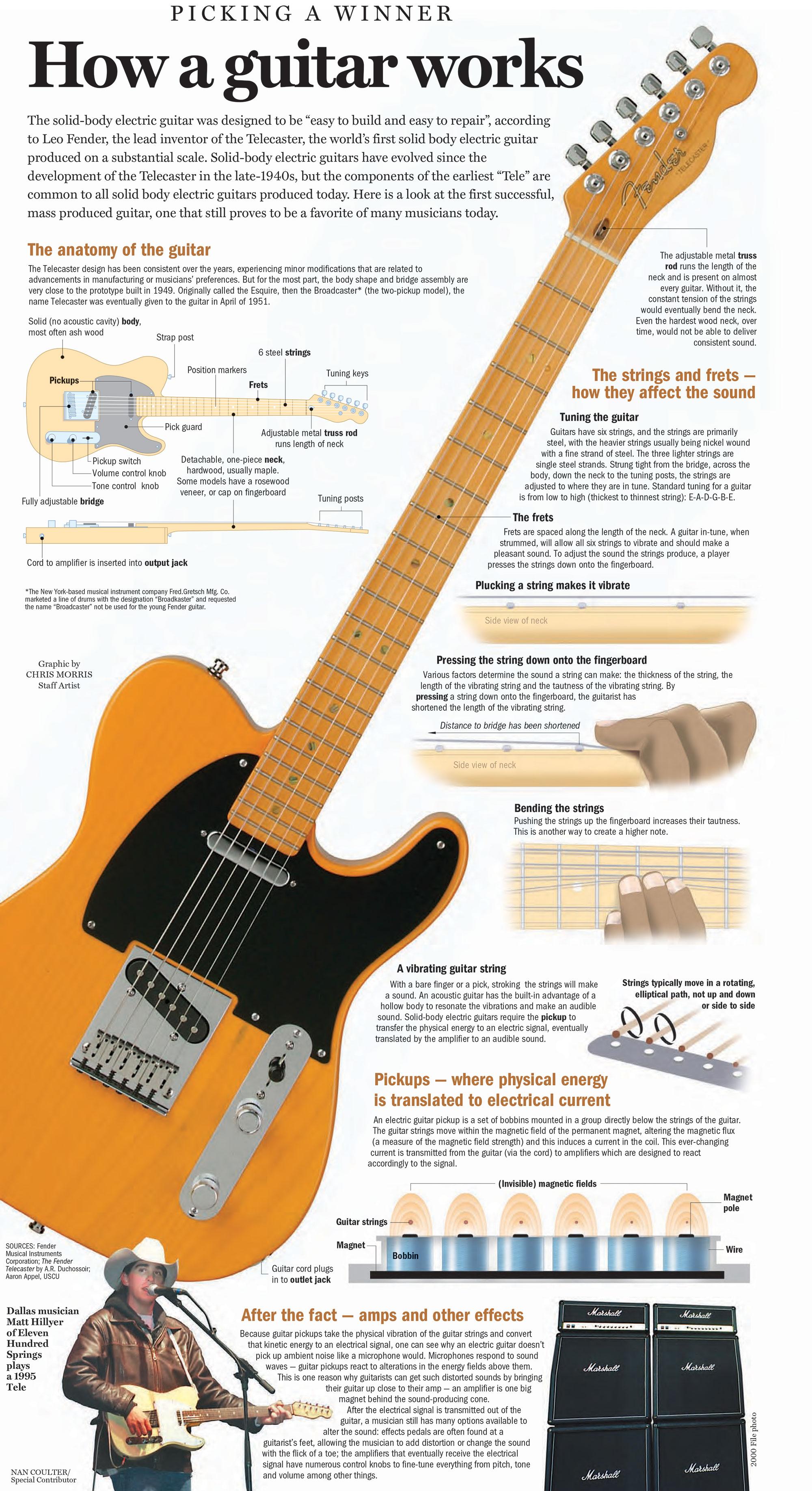 How a guitar works – Chris Morris Illustration